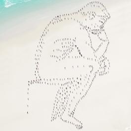 Le Penseur, hommage à Rodin © Didier de Radiguès