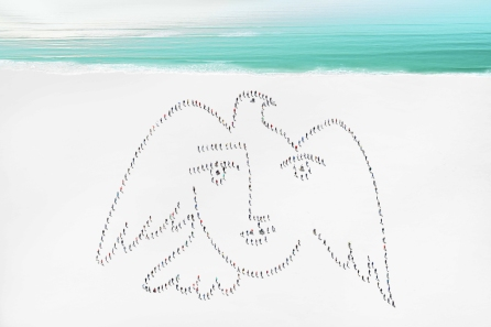 Peace face hommage à Picasso © Didier de Radiguès